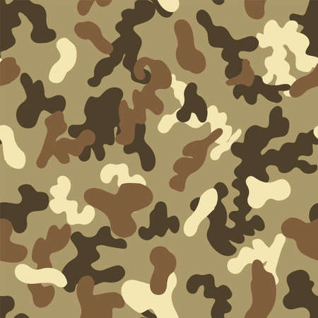 Vector khaki camouflage spots seamless pattern background