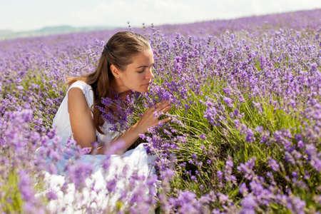 The girl in lavender