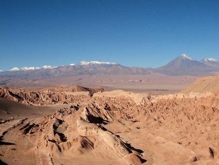 mountain desert panorama in chile  photo