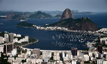 Rio de Janeiro brazil city view beach panorama zuckerhut  photo