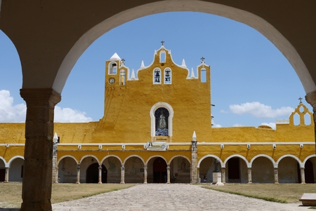 yello: Izamal famous yello city in Mexico Yucatan arc view