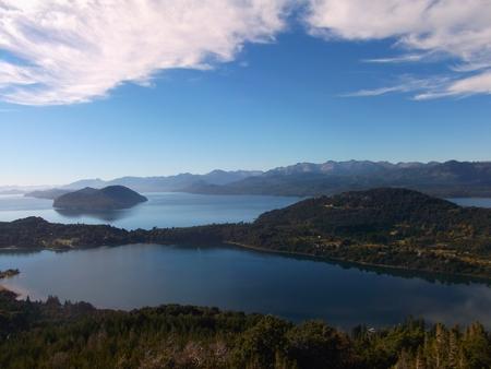 bariloche: artentina patagonia landscape sea panorama bariloche Stock Photo