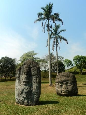 tabasco: stone sculptures tabasco mexico