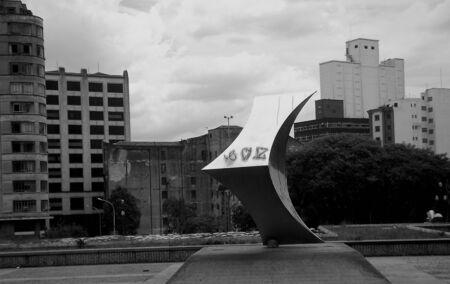 Sao Paulo Brazil City panorma skyline art design sculpture photo