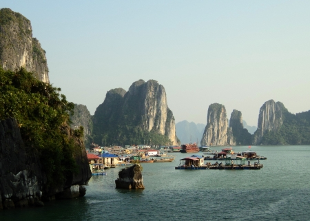 ha: vietnam travel beach ocean panorama Ha Long