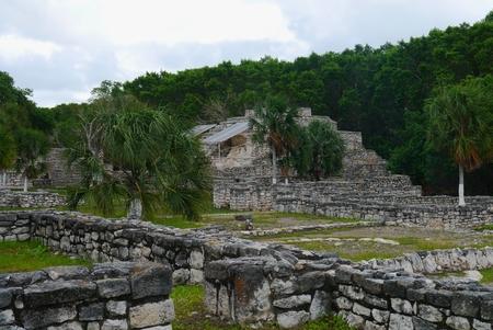 cultura maya: Historia pir�mide cultura Maya M�xico Xtampu yucatan Foto de archivo