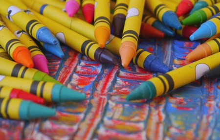 creativ: wax pens colours painting drawing Artist Tools art