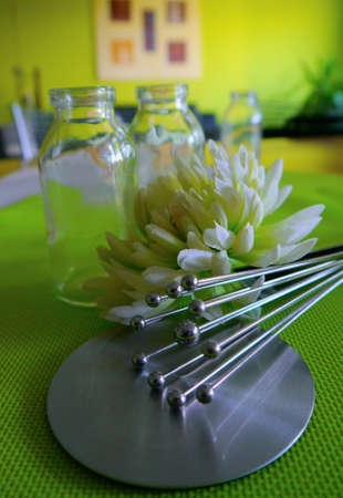 glas metal decoration Lifestyle living design flower photo