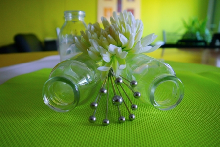 glas: glas metal decoration Lifestyle living design flower Stock Photo