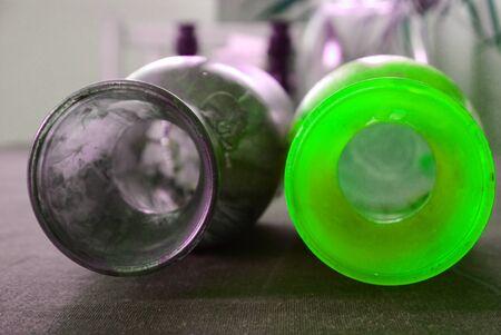 reflexion: botellas colorido glas dise�o Reflexi�n abstracta pintada