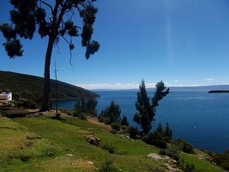 isla de sol coast beach lake  titicaca Bolivia photo