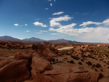 powerfully: stone desert in Bolivia rocks mountains sand