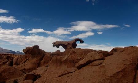 powerfully: stone desert in Bolivia rocks mountains sand
