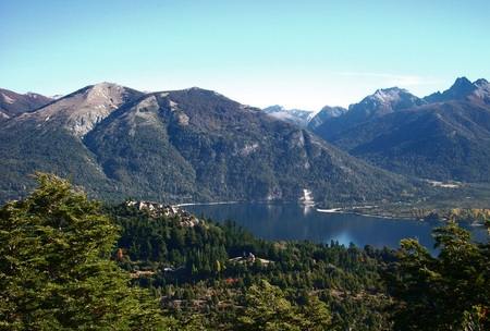 bariloche: Argentina Bariloche Patagonia panorama view lake and mountains