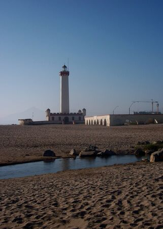 southamerica: lighthouse beach panorama la serena chile