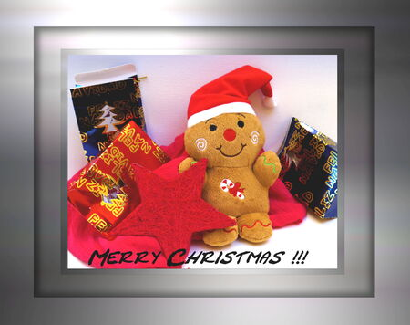 christmas card santa claus and merry christmas photo