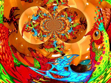 techical: graphic design, art Abstract colorful painting new art Pictures