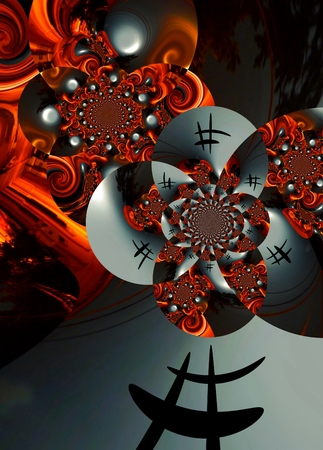 techical: graphic design art Abstract colorful painting Pictures new art Stock Photo