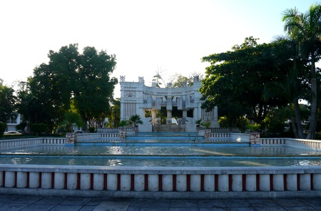 american park merida mexico travel garden architecture