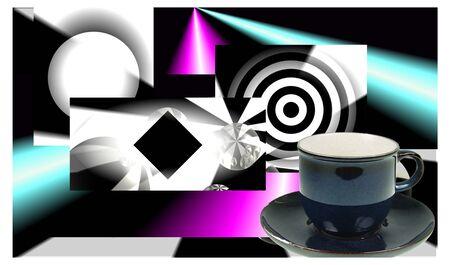 techical: astratto di luce colorata riflessione fotos arte grafica