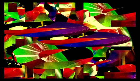 techical: abstract graphic design art colorful background Stock Photo