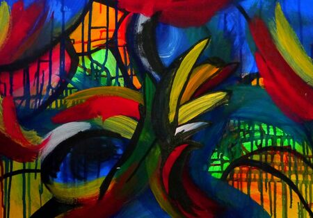 spirituell: painting abstract art  Editorial
