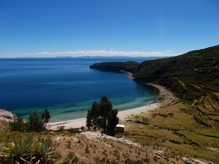 copacabana  bolivia mountains  lake titicaca isla del sol photo