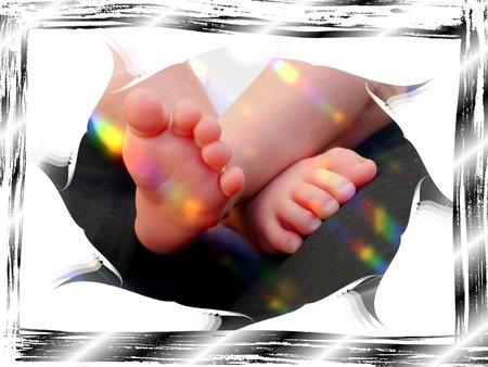 babyvoetjes: Sweet Little Baby voeten familie kinderen moeder Stockfoto