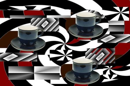 背景デザイン: illustation 背景デザイン コーヒー ショップ 写真素材