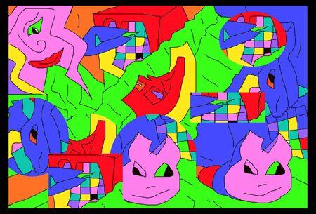 Illustration abstrakt cartoon graphic illustration