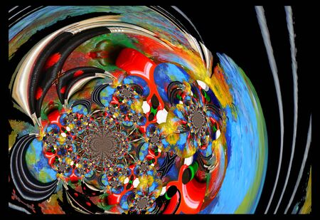 technic: Abstract illustration background graphic design painting