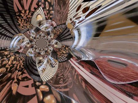 techical: Illustrazione sfondo astratto pittura grafica Archivio Fotografico