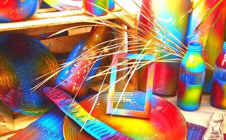 decoration design: art decoration design colorful painting handmade