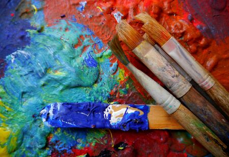 creativ: Painting art tools creativ painting colors abstract brush