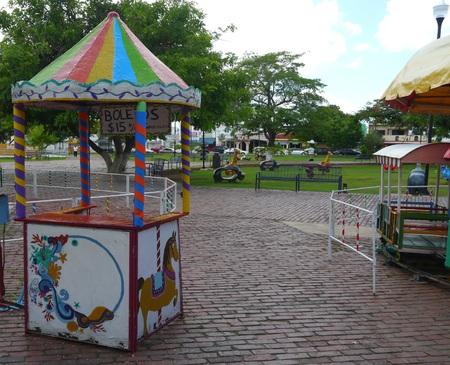 fairground: karusell Fairground children play toys Editorial