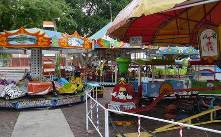 fairground: karusell Fairground children play toys Stock Photo