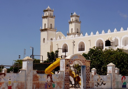 merida: Mexico Church Cathedral Merida Colonial Architecture historial