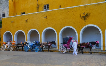 convent: Izamal Yucatan Mexico City monastery convent church yellow