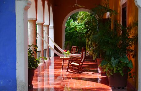 Mexico Merida Hacienda Finca Rancho San Jose Garden Spa Holiday Redactioneel