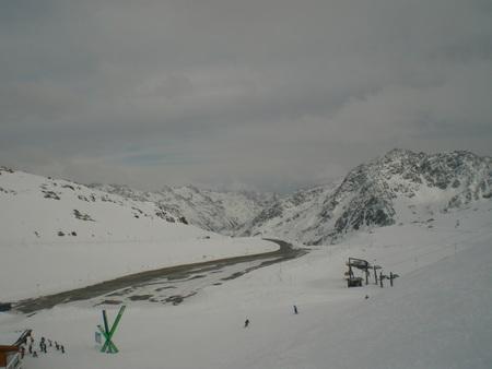 snowlandscape: Snow mountains skiing Austria Soelden hilltop winter landscape