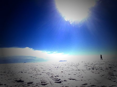 a wonderful world: salt lake in Bolivia salar de Uyuni