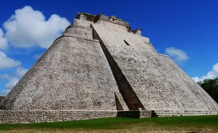 Uxmal mayan ruins Pyramid culture mexico Yucatan