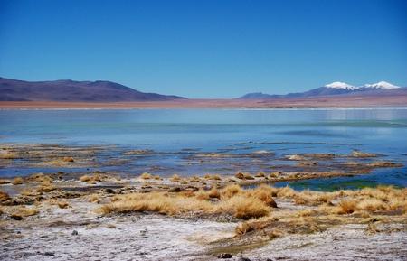 bolivian: Bolivia mountains and lake lagoon panorama