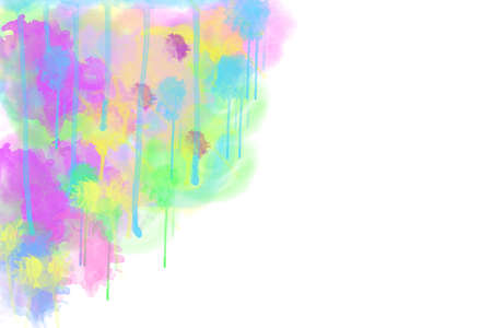 oilpaint: Multi-coloured spot, watercolour abstract background, horizontal picture