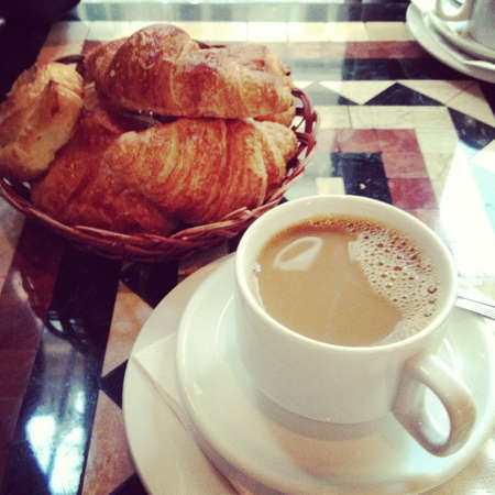 style: French style breakfast