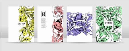 Le fond coloré abstrait. Il peut être utilisé pour des affiches, des cartes, des dépliants, des brochures, des magazines et tout type de couverture.