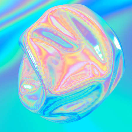 Holographic abstract shape. It can be used for posters, cards, flyers, brochures, magazines and any kind of cover