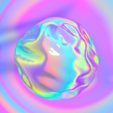 Holographic iridescent abstract background. It can be used for posters, cards, flyers, brochures, magazines and any kind of cover 写真素材
