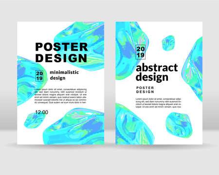 El fondo holográfico abstracto. Se puede utilizar para carteles, tarjetas, flyers, folletos, revistas y cualquier tipo de portada. EPS 10
