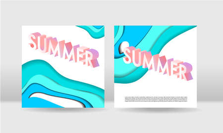 Abstract paper cut concept square backgrounds. EPS10 vector